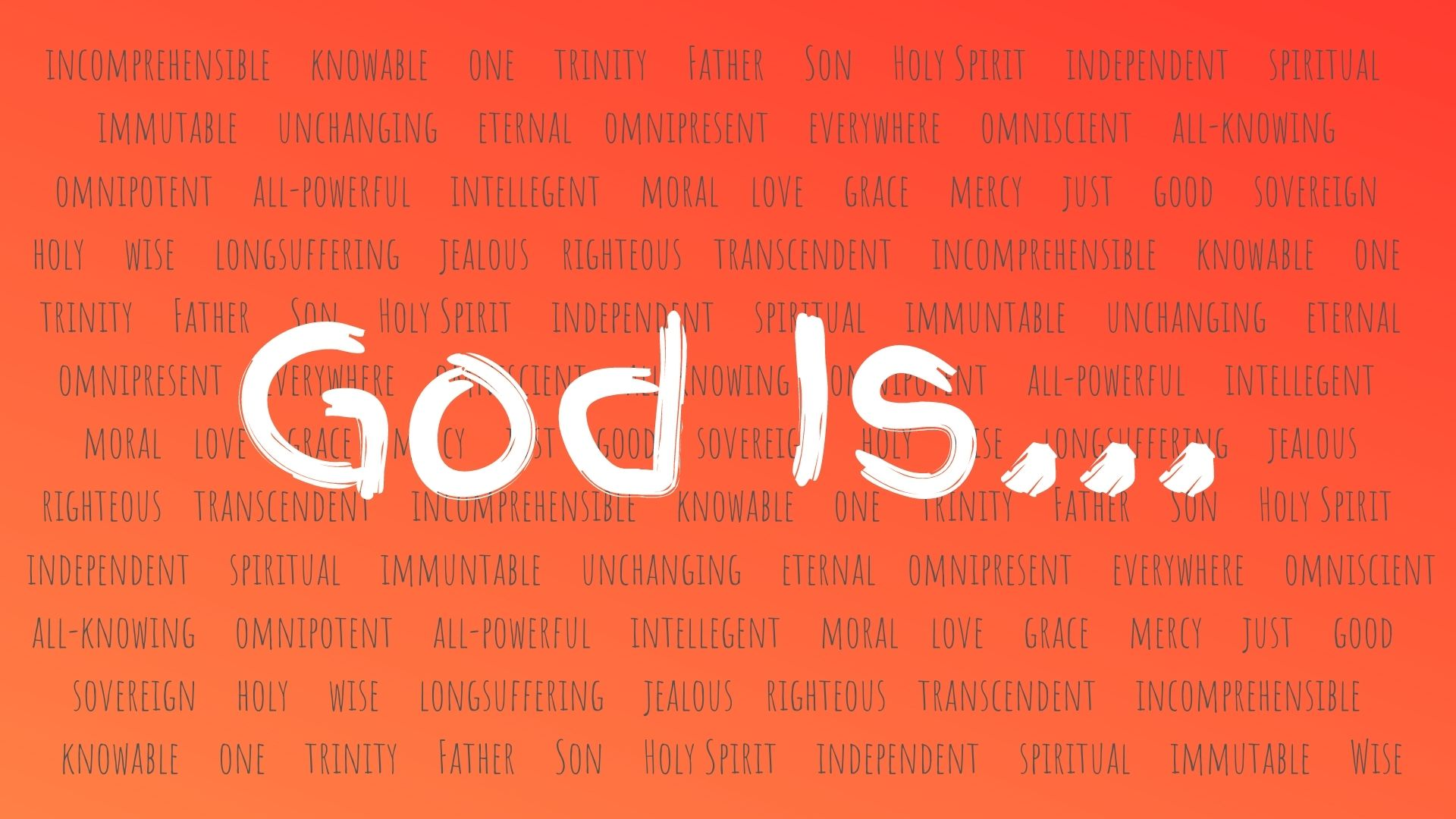 God Is...backdrop